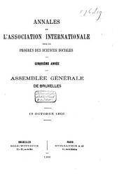 Annales de l'Association Internationale pour le Progrès des Sciences Sociales: ... session : congrès de ...., Volume4