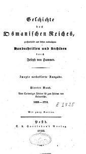 Geschichte des Osmanischen Reiches [...]: Band 4