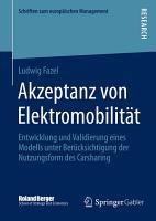 Akzeptanz von Elektromobilit  t PDF