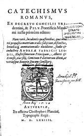Catechismus Romanus ex Decreto Concilii Tridentini ...