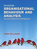 Organisational Behaviour and Analysis PDF