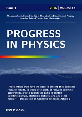 Progress in Physics  vol  1 2016 PDF