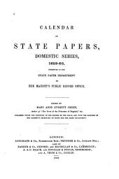 Calendar of State Papers, Domestic Series [of the Commonwealth] 1649-1660: Volume 13