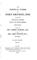 The Poetical Works of John Dryden  Esq PDF