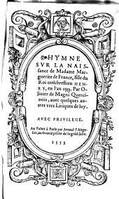 Hymne sur la naissance de Mad. Marguerite de France