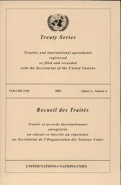 Treaty Series 2194 Annex A