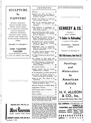 The Art Digest  1926 1951  Silver Anniversary Issue