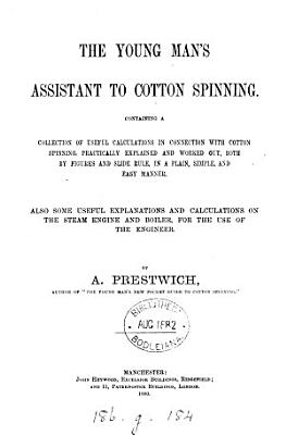 The young man s assistant to cotton spinning