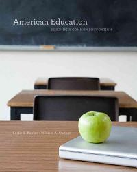 American Education Building A Common Foundation Book PDF
