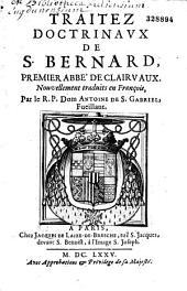 Traitez doctrinaux de Saint Bernard