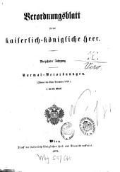 Verordnungsblatt für das Kaiserlich-Königliche Heer: Band 14