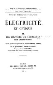 Électricité et optique: Les théories de Helmholtz et les expériences de Hertz