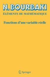 Fonctions d'une variable réelle: Théorie élémentaire