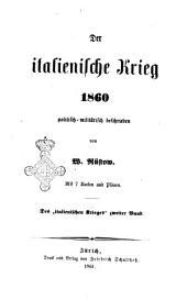 Der italienische Krieg 1860 politisch-militärisch beschrieben