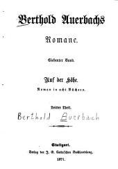 Berthold Auerbachs schriften: Zweite serie. Romane, Bände 7-8