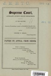 Supreme Court Papers on Appeal from Order