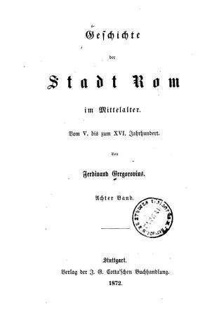 Geschichte der Stadt Rom im Mittelalter0 PDF