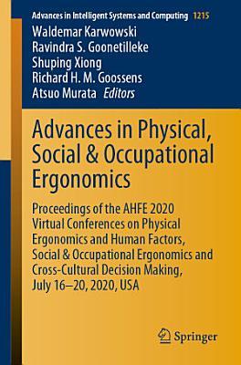 Advances in Physical  Social   Occupational Ergonomics PDF