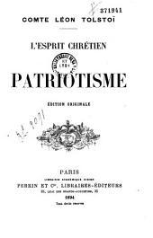 L'esprit chrétien et le patriotisme