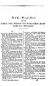 Neuestes Handbuch der Chirurgie in alphabetischer Ordnung: nach der dritten und vierten englischen Original-Ausgabe übersetzt. Vorrede und Register enthaltend, Band 5