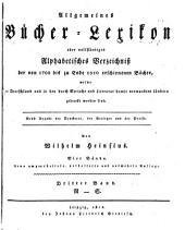 Allgemeines Bu( cher-Lexikon: oder Vollsta( ndiges alphabetisches Verzeichnis der von 1700 bis zu Ende ... [1892] erschienen Bu( cher, welche in Deutschland und in den durch Sprache und Literatur damit verwandten La( ndern gedruckt worden sind, Bände 3-4