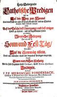 Hertz Bewegende Catholische Predigen0 PDF