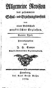 Allgemeine Revision des gesamten Schul- und Erziehungswesens: Band 3