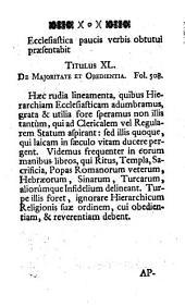 Hierarchia Ecclesiastica: Ad Germaniae Catholicae Principia Et Usum Delineata