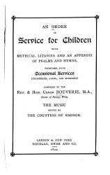 An Order of Service for Children PDF