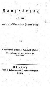 Kanzelrede am letzten Tage des Jahres 1818