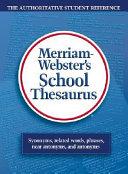 Webster s School Thesaurus