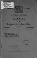 Debates of the Legislative Assembly