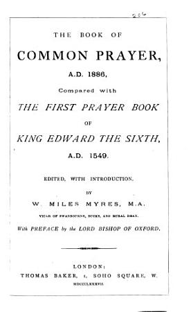 The Book of Common Prayer  A D  1886 PDF