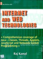 Internet and Web Technologies PDF