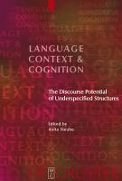 The Discourse Potential of Underspecified Structures PDF