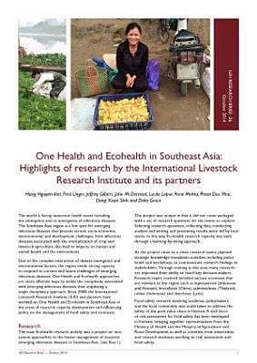 One Health and Ecohealth in Southeast Asia: Highlights of research by the International Livestock Research Institute and its partners