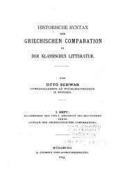 Beiträge zur historischen Syntax der griechischen Sprache: Ausgaben 11-13