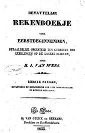 Bevattelijk rekenboekje voor eerstbeginnenden: Volume 1