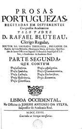 Prosas portuguezas : recitadas em differentes congressos academicos. 2 (1728)