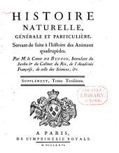 Histoire naturelle, générale et particulière,: servant de suite à la théorie de la terre, & d'introduction à l'histoire des minéraux, Volume3
