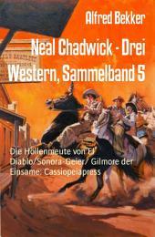 Neal Chadwick - Drei Western, Sammelband 5: Die Höllenmeute von El Diablo/Sonora-Geier/ Gilmore der Einsame: Cassiopeiapress