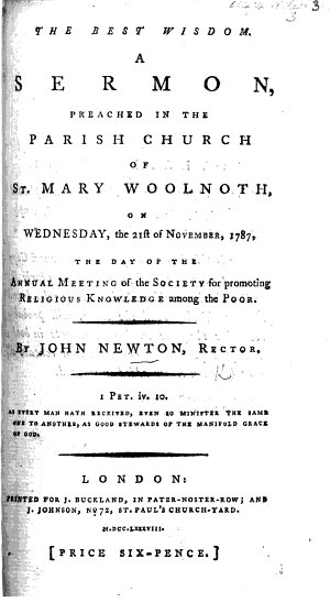 The Best Wisdom  A Sermon  on Prov  Xi  30  Preached     the 21st of November  1787  Etc