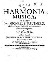 De Harmonia Musica