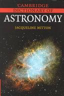 Cambridge Dictionary of Astronomy