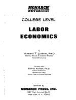 Labor Economics, College Level