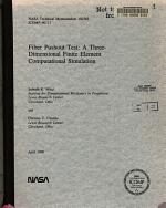 Fiber Pushout Test: A Three-dimensional Finite Element Computational Simulation