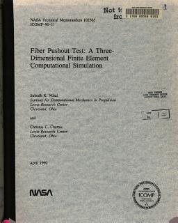 Fiber Pushout Test  A Three dimensional Finite Element Computational Simulation Book