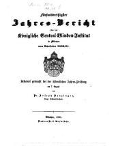 Jahresbericht des Königlichen Central-Blinden-Instituts München: 1860/61