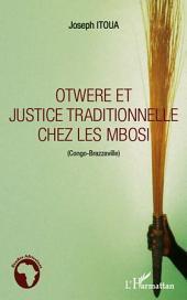 Otwere et justice traditionnelle chez les Mbosi (Congo-Brazzaville)