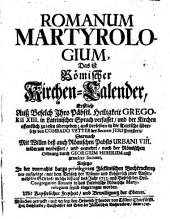 Romanum Martyrologium